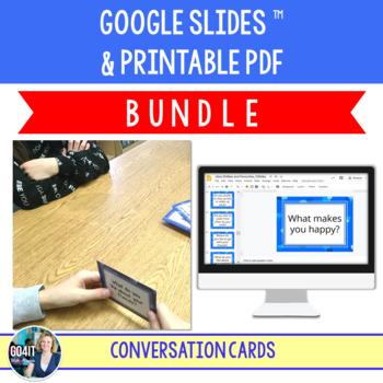 Conversation Cards Bundle: 3 Sets of Conversation Cards (a Total of 185 cards!)