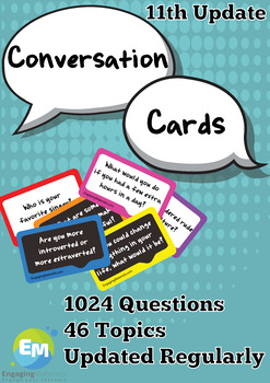 Conversation Questions Cards 808 Questions 39 Topics (updated regularly)