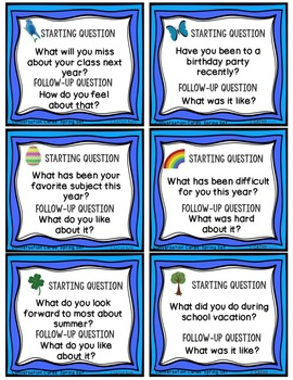 Conversation Cards, Comics, Spring Theme, Social Skills, Role Play, Friendship