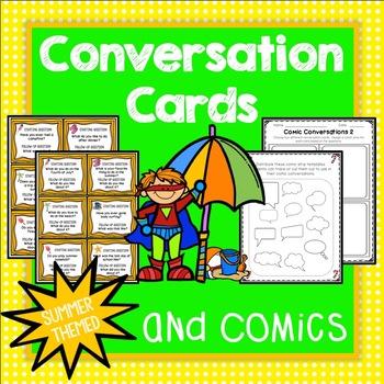 Conversation Cards, Comics, Summer Theme, Social Skills, Role Play, Friendship