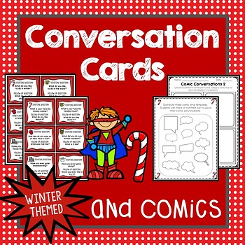 Conversation Cards, Comics, Winter Theme, Social Skills, Role Play, Friendship
