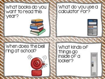 Conversation Cards/ Expressive Language Practice/Back To School #wackywednesday