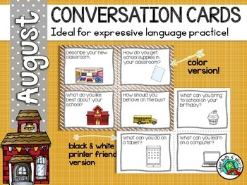 Conversation Cards/ Expressive Language Practice/Back To S
