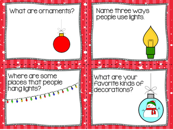 Conversation Cards/ Expressive Language Practice/ December