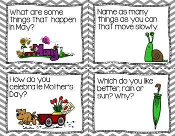 Conversation Cards/ Expressive Language Practice/ May