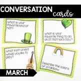 Conversation Cards/ Expressive Language Practice/ MARCH
