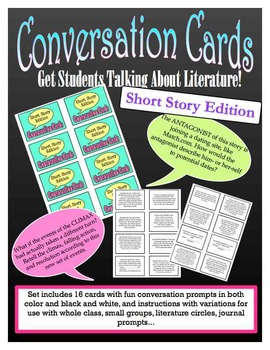 Conversation Cards: Get Students Talking About Literature Short Story Edition