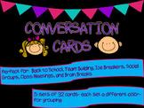 Conversation Cards: Ice Breaker, Team Building, Brain Brea