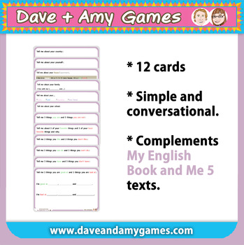 Conversation Cards: My English Book and Me 5