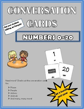 Conversation Cards - Numbers 0-20