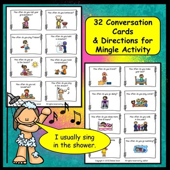Conversation Cards:  Present Tense & Adverbs of Frequency (How often do you...?)