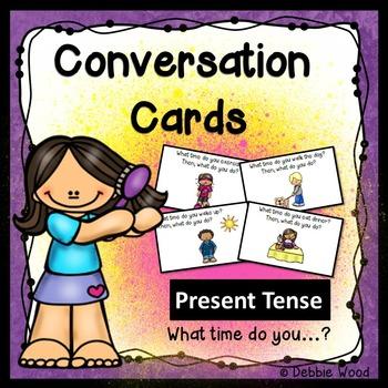ESL Conversation Activities:  Present Tense (Daily Routines)