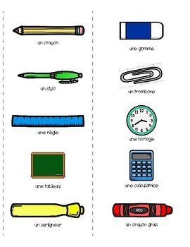 Conversation Cards - School Objects