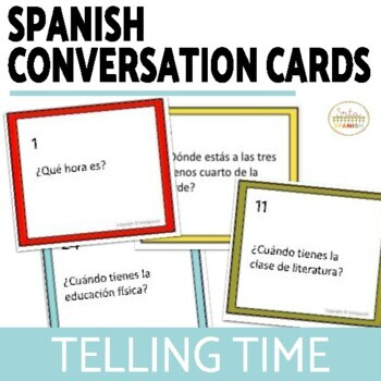 Conversation Cards- Telling Time & Talking about Schedules