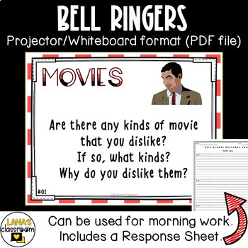 ESL speaking practice for teens. Conversation cards about movies.