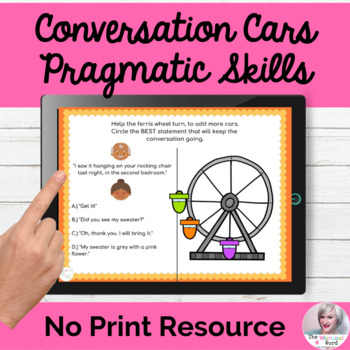 Conversation Topic Maintenance NO PRINT Speech Therapy | Distance Learning