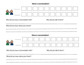 Conversation Checklist - Autism VISUAL