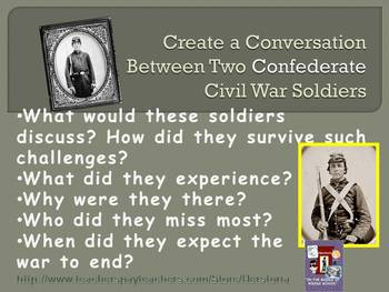 Civil War Soldiers ~ Confederate ~ Conversation Handout