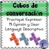 Conversation Starter Cubes State My Opinion & Using Descri