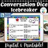 Conversation Dice Game Boom Cards™ Ice Breaker, Social Language Skills