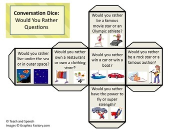 Conversation Dice for Social Skills