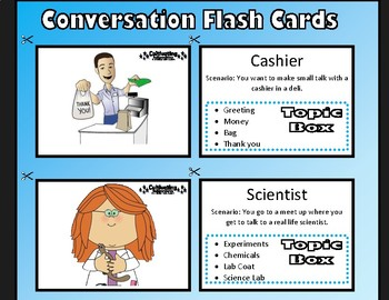 Conversation Flash Cards - Autistic Children Conversational Skills