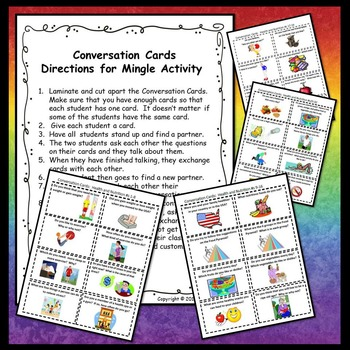 ESL Activities: Conversation Cards Health and Nutrition