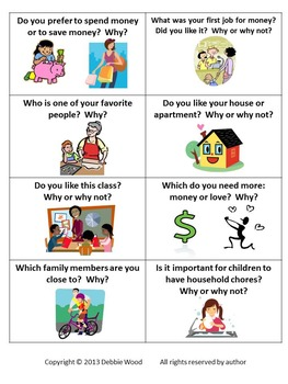ESL Activities for Conversation: Why or Why not?