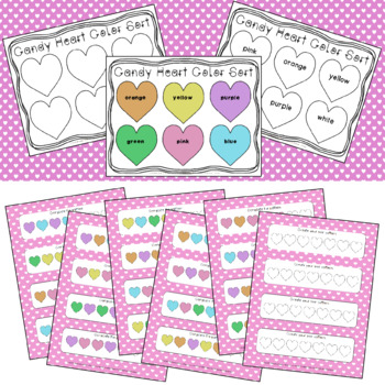 Conversation Heart Activities and Centers