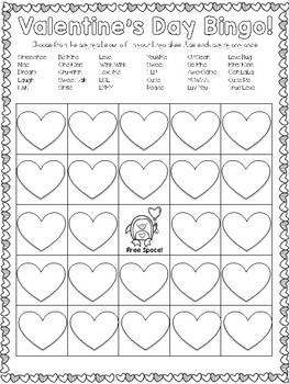 Conversation Heart Bingo