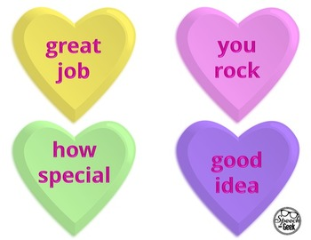 Conversation Heart Compliments