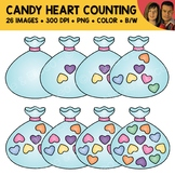 Conversation Heart Counting Scene Clipart