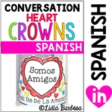 Conversation Heart Crowns for Valentine's Day { Spanish }