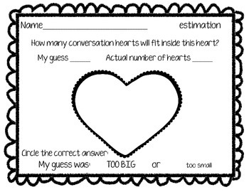 Phrase Candy Heart Valentine Estimation