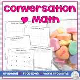 Conversation Heart Graphing, Fractions & Word Problems for Valentine's Day