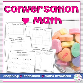 Conversation Heart Math Valentine's Day