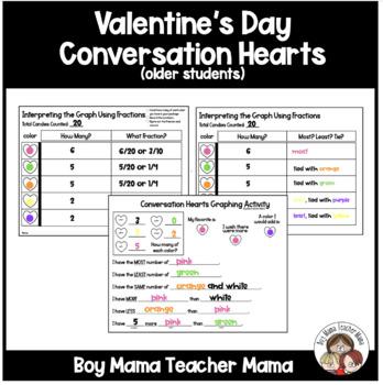 Valentines Day Conversation Heart Math Activities