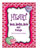 Conversation Heart Mean Median Mode and Range: 6th Grade Common Core