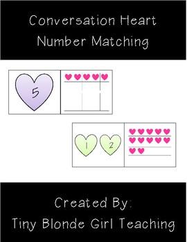 Conversation Heart Number Matching (1-20)