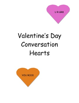 Conversation Heart Sorts and Puzzles