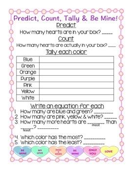 Conversation Heart Tally Chart