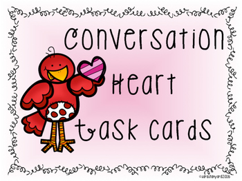 Conversation Heart Task Cards