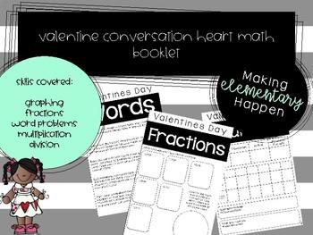 Conversation Heart Third Grade Math