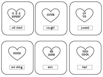 Valentine's Day Verb Tenses-Future, Present, Past -Conversation Hearts Grammar
