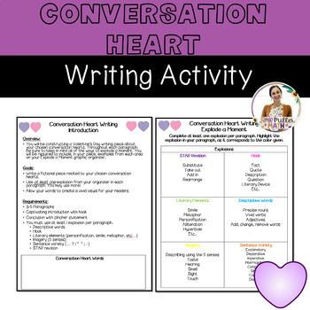 Conversation Heart Writing Activity