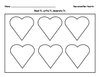 Conversation Hearts Recording Sheet