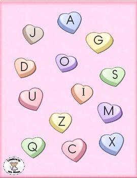 Alphabet Letters - Conversation Hearts ABC