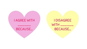 Conversation Hearts - ACADEMIC TALK / WRITTEN RESPONSE PROMPTS