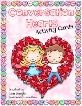 Conversation Hearts Activity Cards