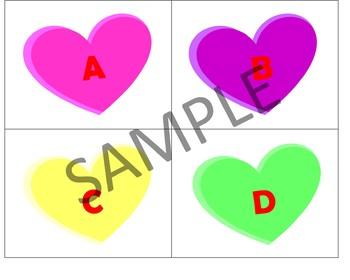 Conversation Hearts Alphabet Cards
